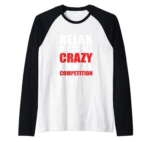 No una competencia Camiseta Manga Raglan
