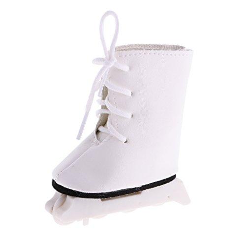 CUTICATE Mode Rollschuhe Schuhe Schlittschuhe Für 18 'American Dolls Zubehör - Weiß 2