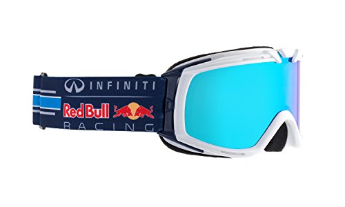 Red Bull Racing Eyewear Kinder-Skibrille Paddock, Farbe:014 shiny white race / sky race