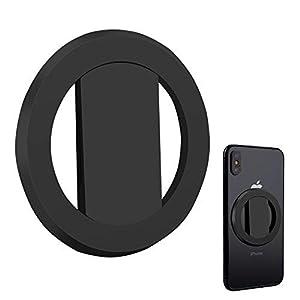 LISBOLI Anillo universal soporte para smartphone, apto para todos los tipos de móvil, iPhone, iPad, tablet y ventosas para coche