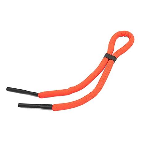 ZYYXB Correa de repuesto ajustable para gafas de natación con abrazaderas de bloqueo de cable, color naranja