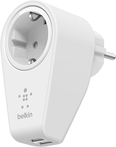 Belkin Schwenkbares Boost Up Ladegerät mit Steckdose (geeignet für iPhone 5/5c/5s, iPhone 6/6s/6 Plus/6s Plus, iPhone 7/7 Plus, iPhone SE, iPad Air 2, iPad Pro, Smartphones, Tablets) weiß