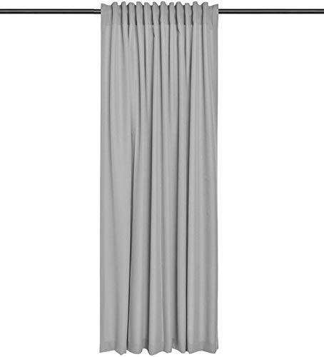 Rollmayer Vorhang mit Tunnelband (Reno Grau 51, 140x240 cm - BxH) Uni einfarbig Verdunklungsgardine verdunkelung...