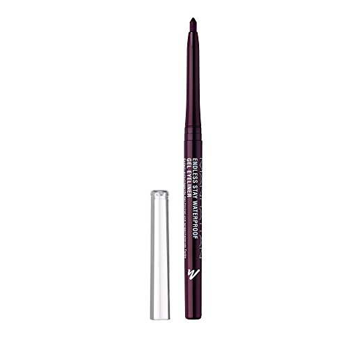 Manhattan Endless Stay Waterproof Gel Eyeliner, Lila Gel Eyeliner mit herausdrehbarer Mine ohne...