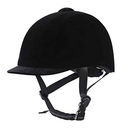 Casco Ecuestre Terciopelo Sombreros de Montar a Caballo Ligero Casco Transpirable Montar Unisex Clásico Cabeza Protectora Engranaje Protector,XL