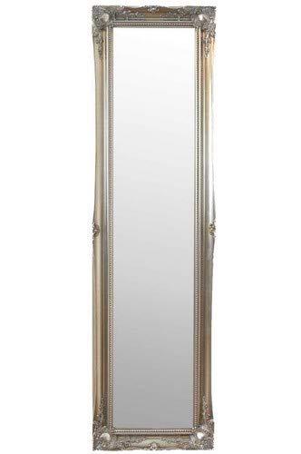 MirrorOutlet Groß Silber Antik Stil Kunstvolles Kleid Standspiegel 5ft6X 1FT6, 167cm x 45cm