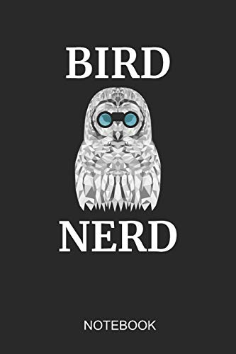 Bird Nerd Notebook: 6x9 110 Pages Checkered Bird Journal For Owl & Wild Life Lovers