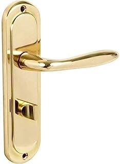 Designer Levers 8073H Turnberry - Manilla para puerta de baño con privacidad (acabado en latón pulido, 189 mm x 49 mm, par)