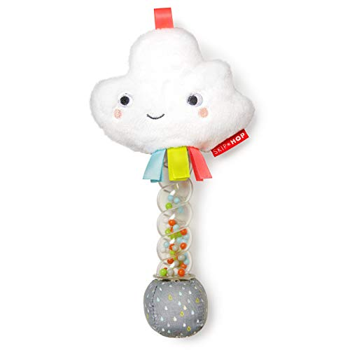 Skip Hop Silver Lining Cloud Rattle, Rainstick