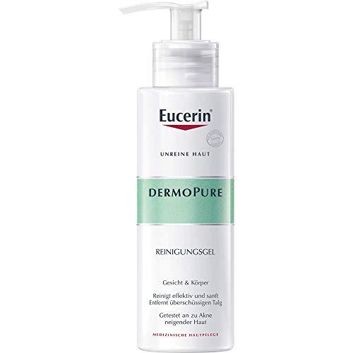 Eucerin Dermopure Reinigungsgel (1x 200ml), Waschgel zur Reinigung bei unreiner Haut, Gesichtsreinigung mit seifenfreier Formel öffnet verstopfte Poren