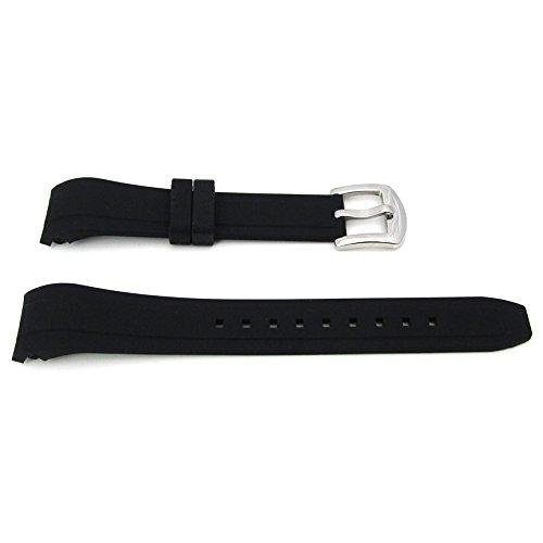 Per Omega e orologio Rolex silicone curvo Ended cinturino 20mm x 16mm