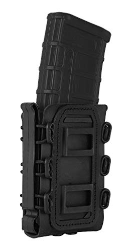 KRYDEX 5.56mm 7.62mm Mag Pouch Softshell Magazine Pouch with Molle Clip (Black)