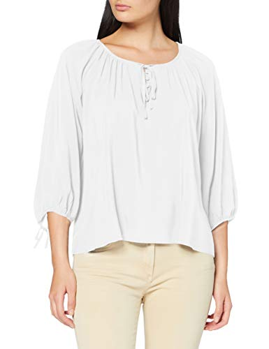 United Colors of Benetton Blusa Camisa, Blanco (Bianco 101), Small para Mujer