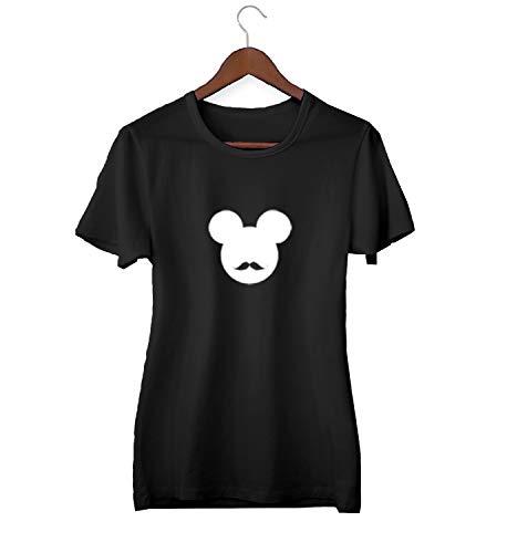 Desconocido Mickey Mouse Hipster Mustache Logo_KK024282Camiseta de la Camisa Regalo de Las Mujeres Camiseta cumpleaños