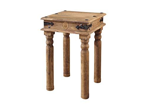 MASSIVMOEBEL24.DE Massiv Holz Kolonialart Möbel Sheesham geölt Beistelltisch Palisander grau Massivmöbel grau LEEDS #24