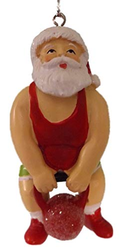 On Holiday Santa Clause with Kettle-Bell,...