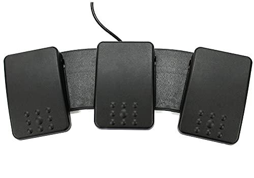 EDIKUN Foot Switch [FS2P3]【エジクン フットスイッチ(日本語対応・多機能)】(3ペダル・トリプル)