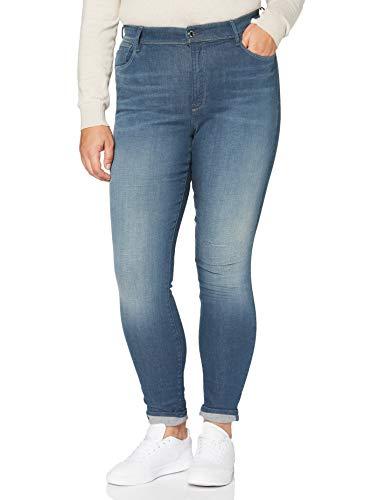 G-STAR RAW Damen Jeans Kafey Studs Ultra High Waist Skinny, Worn In Gravel Blue C431-B844, 28W / 32L