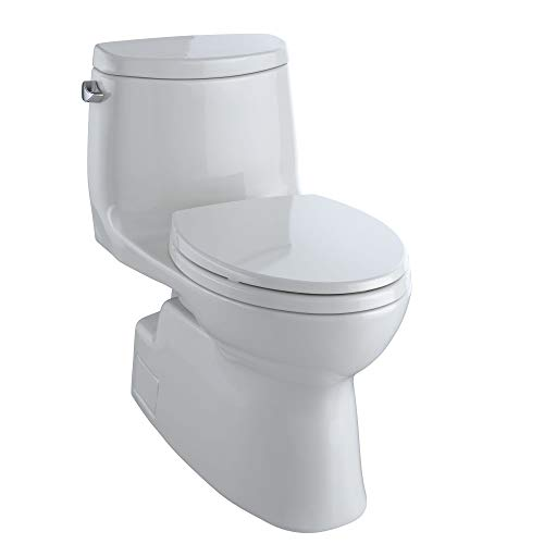TOTO Carlyle II Elongated 1.28 GPF Universal Height Skirted Toilet with CEFIONTECT