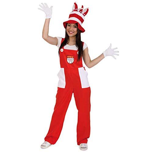 KarnevalsTeufel Kostüm Latzhose Köln in rot-weiß (XX-Large)