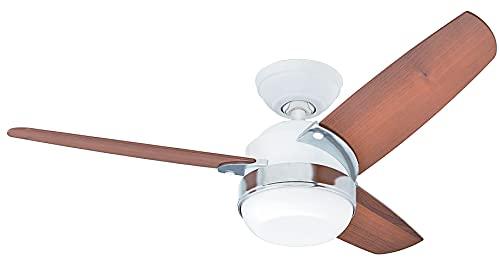 Hunter Fan 50616 Hunter Nova Blanc 107cm Ventilateur de plafond avec éclairage, Acier, 47 W, 107 cm