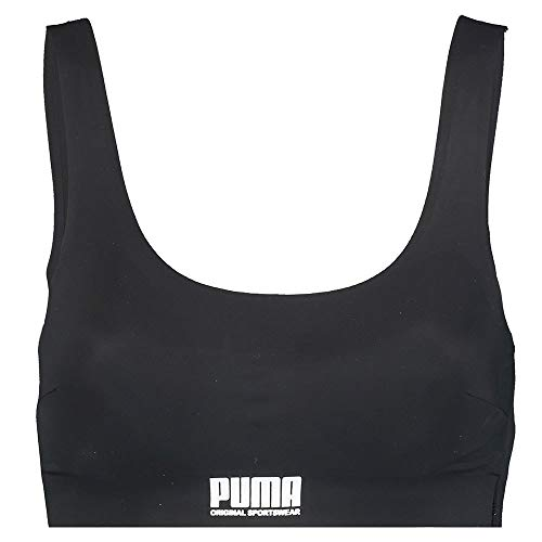 PUMA Women's Sporty Padded Top (1 Pack) Ropa Interior, Negro, M para Mujer