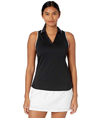 Puma Golf Women's Mattr Sprinter Sleeveless Polo, Puma Black Heather, Medium