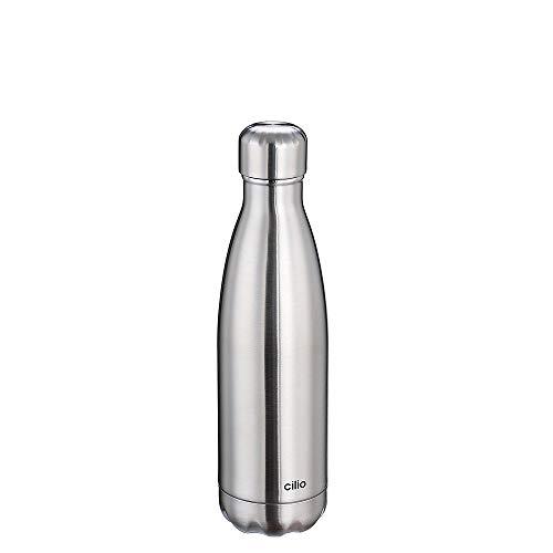 Cilio Elegante Isolierflasche, Edelstahl, Rot, One Size
