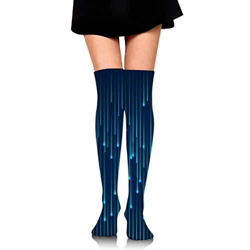 RGFDF Futuristic Science Damen Overknee Oberschenkel Socken Mädchen High Boot Strümpfe
