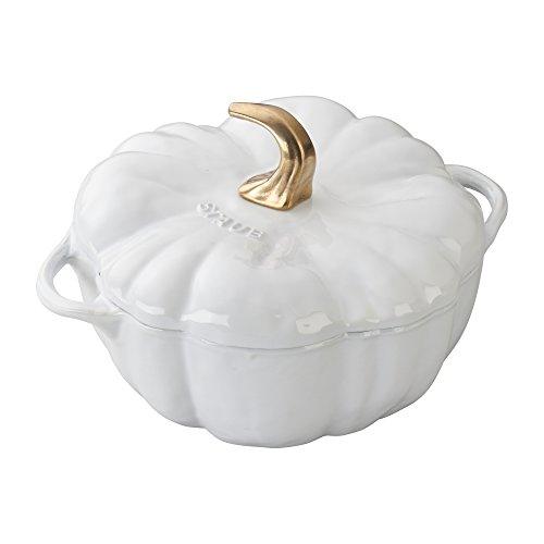 Staub Cast Iron Pumpkin Cocotte, 3.5-quart, White
