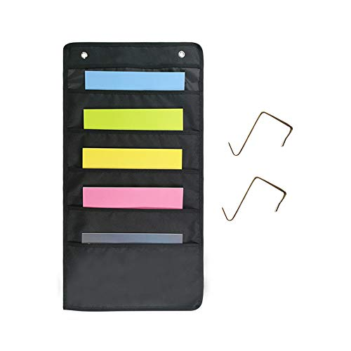 Classroom Pocket Chart Wall Hanging Organizer for School Office Home Organizing, Storage Pocket Chart with Hooks (Style B)