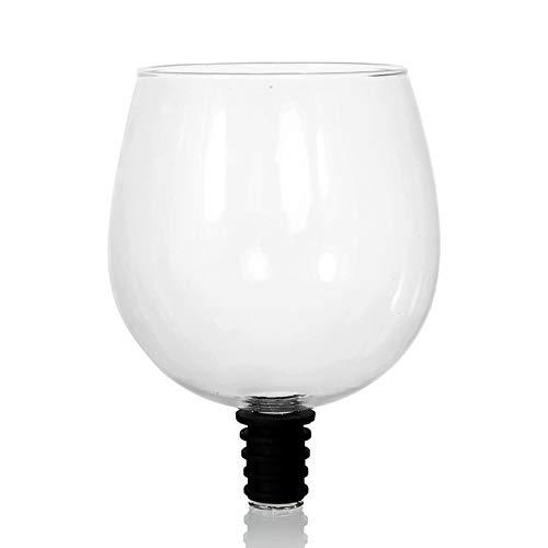 LMPENG Copa de vino tinto cristal botella de agua potable – convierte la botella en tu copa de vino.