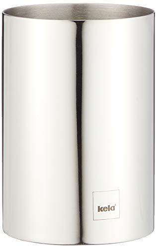 kela Becher Intense aus Edelstahl in Silber, 6.5 x 6.5 x 9.5 cm