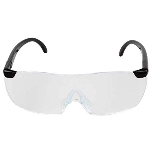 Hermosairis Große Vision 1,6 X Lupe Lesebrille Flammenlose Leichte Brillenlupe 250 Grad Vision Objektiv für Ältere
