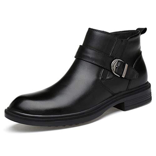 Botas de Hombre Otoño Invierno Zapatos Formales Zapatos de Vestir de Cuero...