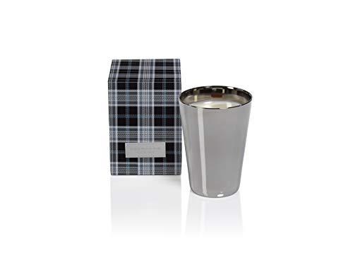 Zodax 6.25' Tall Large Silver Metallic Glass Jar in Gift Box, Siberian Fir Candles