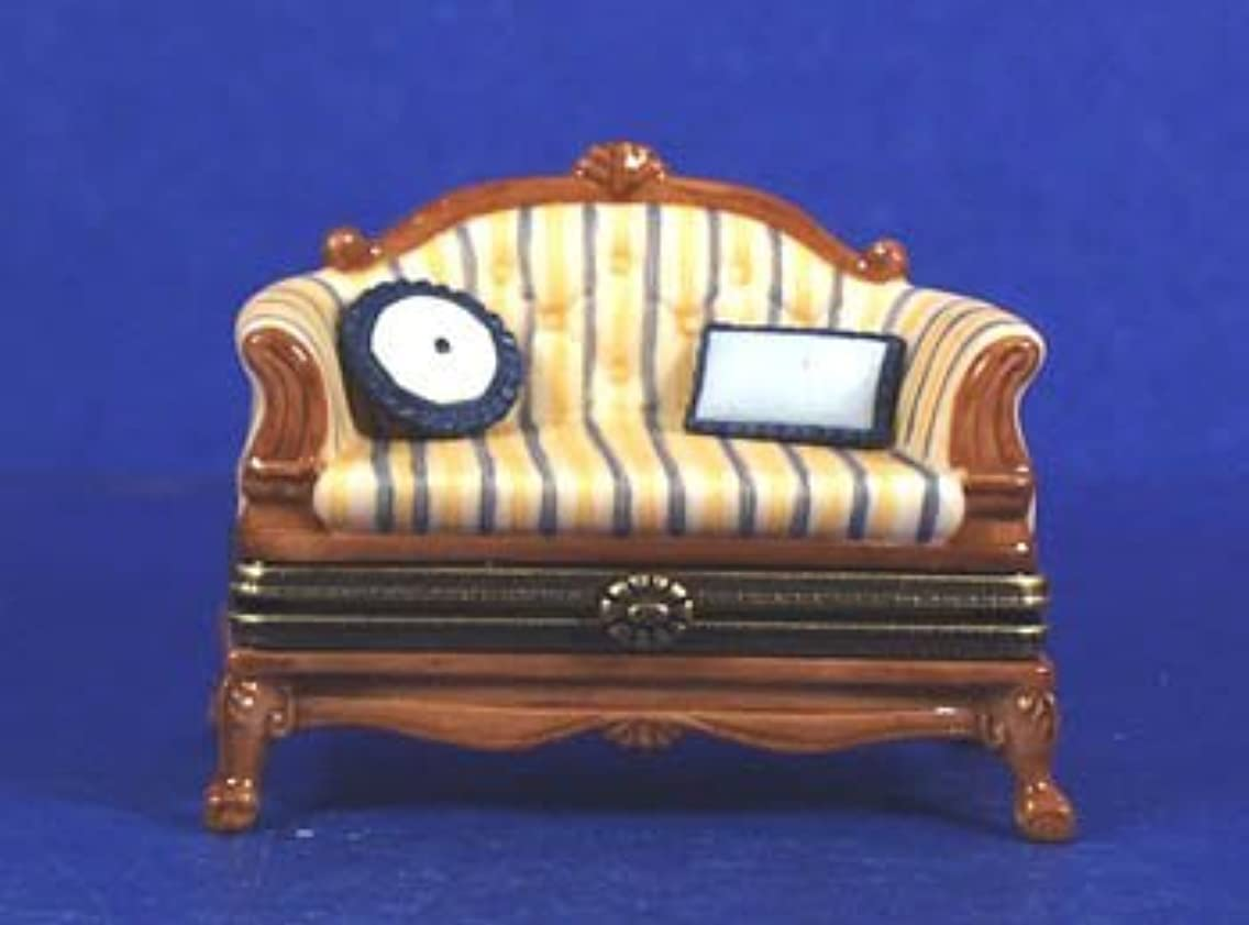 French Sofa and Pillows PHB Porcelain Hinged Box Midwest of Cannon Falls