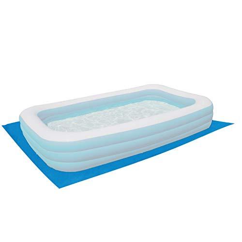 Poolunterlage 230x180 cm rechteckig Family Pool 201x152cm - 110g/m² PE - Wasserdicht - Bodenfolie Unterlagen Schutz Bodenschutzplane Unterlegplane Bodenplane aufblasbarer Pool Swimmingpool Poolzubehör