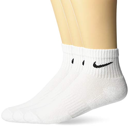 Nike Herren Everyday Cushion Ankle Socken, 3er Pack, Weiß (White/Black/100), 38-42 EU