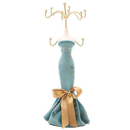 LXSY Soporte de Anillo Soporte de Joyería Azul Pavo Real, Pendientes y Collares, Adecuado para Regalos de Boda y Vacaciones, Escaparate