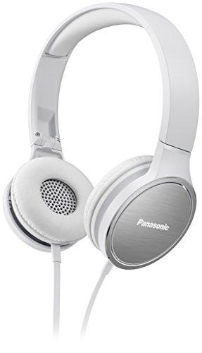 Panasonic RP-HF500ME-W On Ear Kopfhörer (Headset, 9-25.000 Hz, 40 mm Wandler, Ohrmuscheln mit Aluminium Oberfläche, gepolstertes Kopfband) weiß