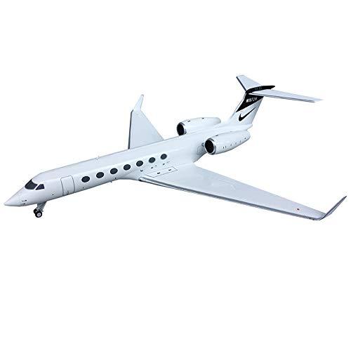 CMO Aviones Maqueta, Jet Comercial Gulfstream G550 Statico Modelos Escala 1/200, Juguetes y Regalos para Adultos, 5,8 X 5,6 Pulgadas