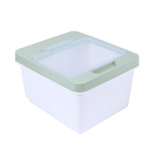 ZYQZYQ 10kg arroz de la Cocina Caja de Almacenamiento de Gran Capacidad de Cereal de Grano dispensador de Comida a Prueba de Humedad Contenedor de Cocina Doble Sello Rice Storag (Color : C)
