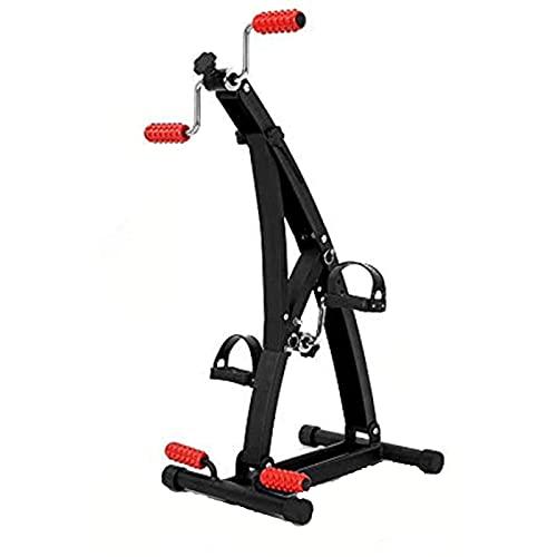 ZBQLKM Inicio Fitness Bicycle Pedal Ejercitor, Dispositivo de Entrenamiento de extremidades Superior e Inferior con Cubierta de pie Ajustable y Ajuste de Altura de 6 Niveles, Adecuado for el Deporte