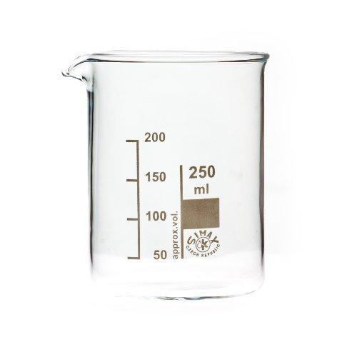 SIMAX Bechergläser, Becherglas 250 ml niedere Form, mit Ausguss, graduiert