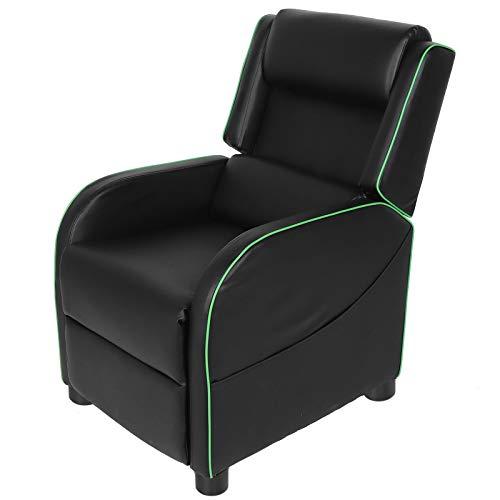 Dioche Sofá reclinable para Juegos, Sillón Relax reclinable,Sillón Reclinable de Cuero PU,para Sala de Estar, Dormitorio, Sala de Juegos, Sala de Cine en(Green)