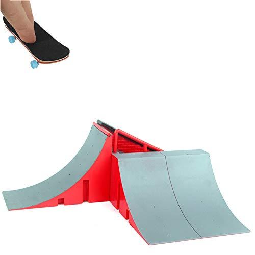 Nicejoy 1set Finger Skateboard Venue Kombination Set Mini-Finger-Brett Spielen Platz Micro Skateboard-Rampe Spaß Skateboard Platz Spielset Spielzeug-Geschenk Für Jungen Und Mädchen
