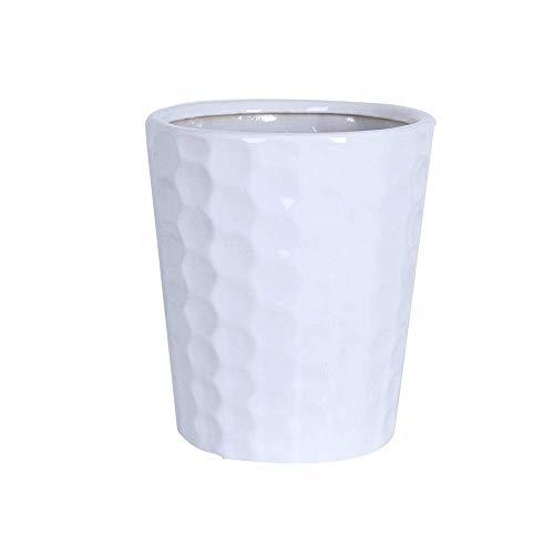 Ceramics Plant Pots Extra Large Desktop Ceramic Flower Pot with Drainage Holes White Slim Tall Personality Vase Gardening Home Desktop Office Windowsill Decoration Gift