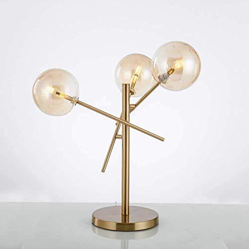 Creativo vidrio metal sala moderna minimalista lámpara boutique dormitorio modelo habitación comedor minimalista lámpara de mesa 40x50cm