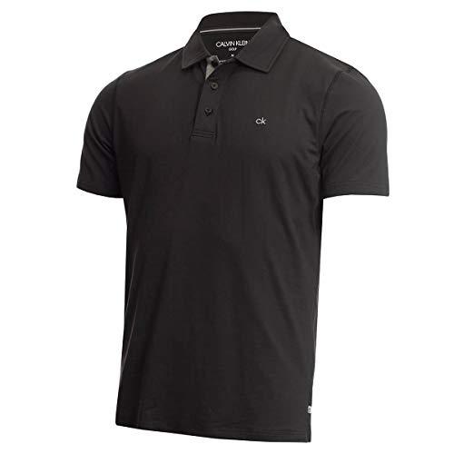 Calvin Klein Herren Newport Leichte Golf-Polo-Hemd - Schwarz - XXL